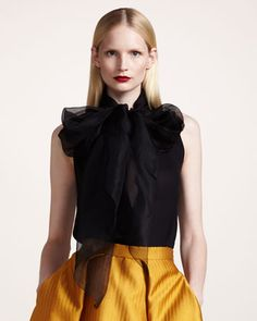Georgette Scarf Blouse by Wes Gordon at Bergdorf Goodman.