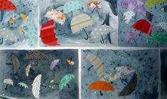 Umbrellas dancing in the wind