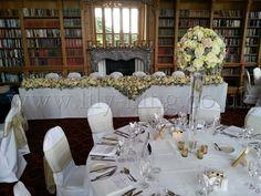 Large Top Table Garland of Roses, by Lily King Weddings