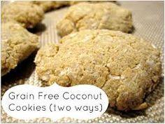 Kokosnoot koekjes zonder granen