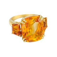 Seaman Schepps Citrine Three-Stone Ring (18K yellow gold)