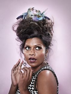 Mindy Kaling. This is cute. I love high fashion, it's so quirky.