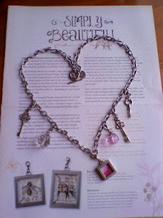 Simply adorned necklace with key charms