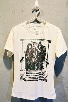 KISS Tshirt Rock Tee Shirt Vintage Poster Concert Women by iRocker, $15.99