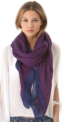 woven dot scarf / marc by marc jacobs