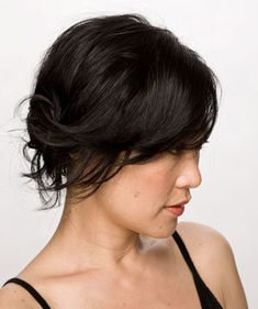Simple Side Knot | Think short hair limits you? See a half-dozen versatile looks for short hair.