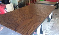 Our DIY Lakeside Retreat: Budget Friendly Wood Countertops Painting Countertops, Wood Countertops, Diy Projects, Project Ideas, Budgeting, Dining Table, Counter Tops, Furniture, Kitchen Ideas