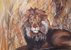 Löwe - Acryl auf Leinwand