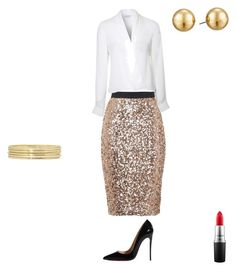 """Untitled #4"" by temra-taylor on Polyvore featuring French Connection, Lipsy, Christian Louboutin, Liz Claiborne, Lauren Ralph Lauren and MAC Cosmetics"