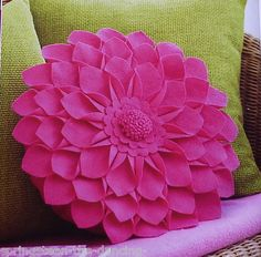 Sewing Pattern  ~ FABULOUS FLOWER CUSHION ~ Felt Dahila