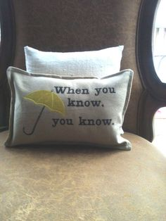 yellow umbrella decorative pillow by TaylorAdams on Etsy, $.  kids, this is the story of why i bought a pillow on etsy...