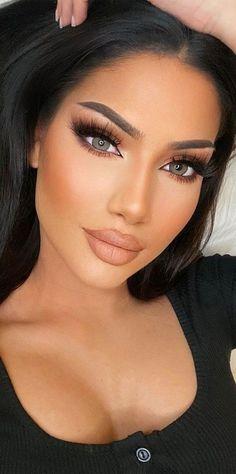 Neutral Makeup Look, Glam Makeup Look, Nude Makeup, Hair Makeup, Eyeshadow Makeup, Stunning Makeup, Gorgeous Eyes, Pretty Eyes, Beautiful Women