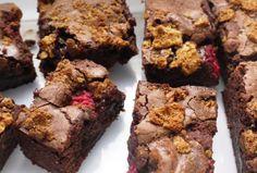 Raspberry Amaretti Crunch Brownies