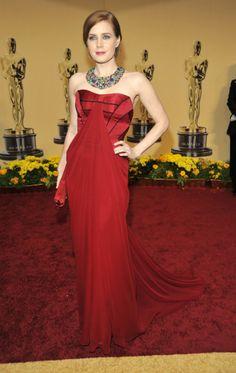 Amy Adams at the Oscars in 2009 wearing Carolina Herrera