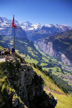 Lauterbrunnen Valley from Mannlichen, Switzerland. Still can't believe we hiked in Mannlichen!