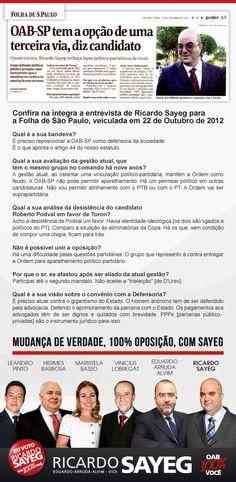 #oab-sp #advogados #advogadas #ricardosayeg #votoricardosayeg
