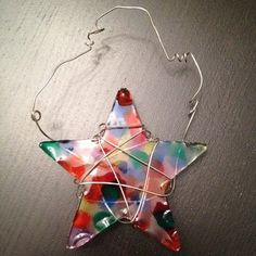 Melted Bead Sun catcher - EASY to make.  Great project for a rainy summer afternoon