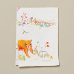 Watercolor Squirrel Tea Towel in House+Home KITCHEN+DINING Linens at Terrain