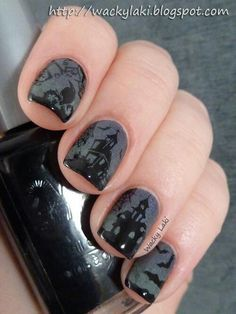 haunted mansion nail wraps - Google Search
