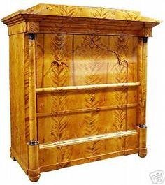Luxury kleiner alter antiker biedermeier weichholz schrank kleiderschrank dielenschrank Wohnen u Einrichten Pinterest