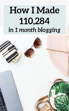 Here's how I made $110,284 working from home in just one month. #workingfromhome #workfromhome #howtostartablog #waystomakeextramoney