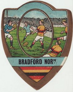 Football Stickers, Football Cards, Rugby Poster, Rugby Sport, Rugby League, Ballon, Vintage Ephemera, Bradford, Porsche Logo