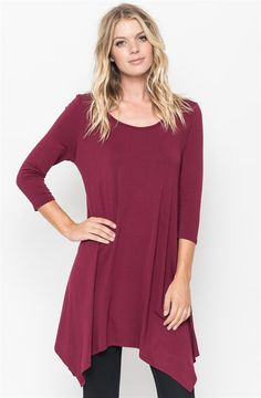 $13.99 | Asymmetrical Tee Dress! S-XL | Shop for women's boutique deals on Jane.com