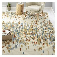 West Elm Paint Palette Rug, 3'x5', Multi - Decorative Rugs - Accent... (194 920 LBP) ❤ liked on Polyvore featuring home, rugs, multi, abstract rugs, west elm area rugs, patterned rugs, abstract area rugs and west elm