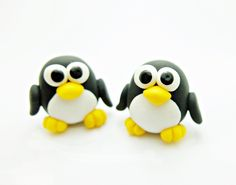 Mini+Pinguin+Kinder-Ohrclips+gepolstert+Nickelfrei+von+Kinderschmuck++auf+DaWanda.com