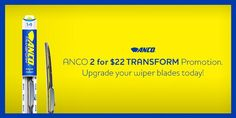 Show the rain who's boss & upgrade w/ our ANCO 2 for $22 Transform Wiper Blades! http://amzn.to/1DU2WFf  #promo