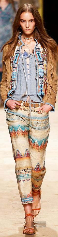 Etro – Spring 2015 / High Fashion / Ethnic & Oriental / Carpet & Kilim & Tiles & Prints & Embroidery Inspiration /