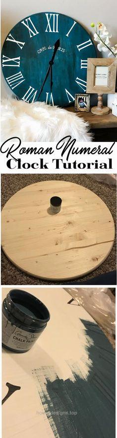 DIY Clock Tutorial – Home Décor – Farmhouse…   http://www.housedesigns.top/2017/08/05/diy-clock-tutorial-home-decor-farmhouse/