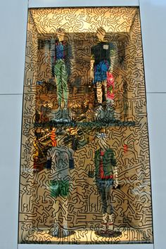 "Avenue,New York,""Keith Haring Graphics"", pinned by Ton van der Veer Store Windows, Retail Windows, Window Display Design, Window Displays, Vitrine Design, Coffee Shop Design, Visual Display, Window Art, Keith Haring"