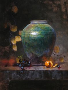 Jeff Legg, Viridian and Citrus, oil, 16 x 12.