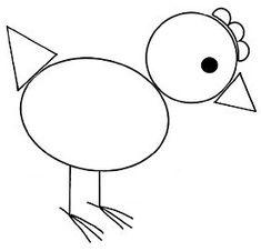 Shapes Worksheet Kindergarten, Printable Preschool Worksheets, Shapes Worksheets, Printable Crafts, Art Drawings For Kids, Drawing For Kids, Creative Arts And Crafts, Crafts For Kids, 2d Shape Games