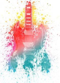 gibson guitar electronic gibsonsg diable devilguitar colorsplash
