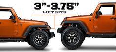 Jeep JK Lift Kits 3 - 3.75 Inch (2007-2015 Wrangler)