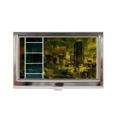 Escala Seattle Yellow Green Col Business Card Case