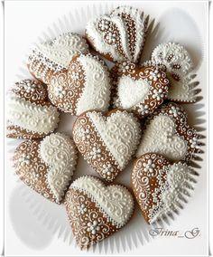 Davno ne zahodila na sajt i vizu sejchas… Lace Cookies, Heart Cookies, Cupcake Cookies, Sugar Cookies, Cupcakes, Honey Cookies, Valentines Day Cookies, Holiday Cookies, Galletas Cookies