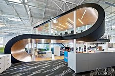 Do the Office Math: Blitz Office Makes One Workplace Two | The roof gained 14 skylights office space design.