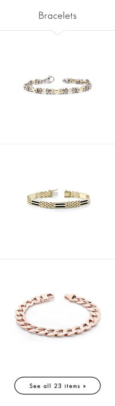 """Bracelets"" by applesofgoldjewelry ❤ liked on Polyvore featuring Apples of Gold, Men's Society, Paco Rabanne, jewelry, bracelets, men's fashion, men's jewelry, men's bracelets, mens watches jewelry and mens 14k gold bracelets"
