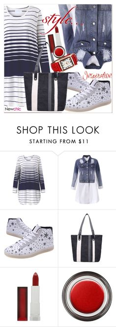 """""""NEWCHIC"""" by selmir ❤ liked on Polyvore featuring Maybelline and Giorgio Armani"""