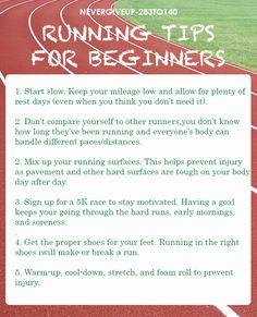 Running tips for starters.