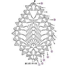 Crochet Leaf Patterns, Crochet Stitches Chart, Crochet Jewelry Patterns, Crochet Earrings Pattern, Christmas Crochet Patterns, Crochet Diagram, Thread Crochet, Crochet Accessories, Crochet Christmas Ornaments