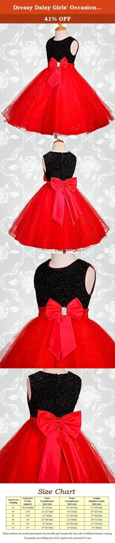 Dressy Daisy Girls' Occasion Dresses Flower Girl Wedding Pageant Party Dress Size 5-6 Black Red. It is great for any occasion such as wedding, party, birthday, holiday, and other special events. You and your little princess will love this dress. For the shipments fulfilled by seller, it takes 8-12 working days to deliver. For those buyers who are outside USA, it may takes a little longer time. We offer expedited delivery service as well. For details, please refer to our shipping…