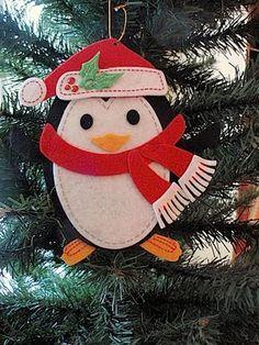 I think I can make this felt penguin.  So cute!