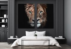onze favorieten van PosterJunkie - Lilly is Love Modern Bedroom, Master Bedroom, Blue Headboard, Fresh To Go, Student Room, Poster Design, Room Interior Design, New Homes, Furniture