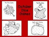 October Dice Games product from Fun-A-Day on TeachersNotebook.com