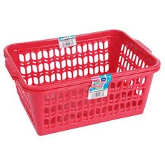 2 Pack Large Handy Baskets Mix Assorted