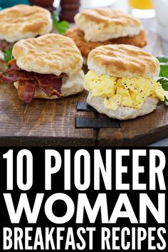 10 Pioneer Woman Breakfast Recipes Fuel your day with this collection of delicious and simple breakfasts by Ree Drummond From makeahead casseroles perfect for freezer co. Food Network Recipes, Cooking Recipes, Healthy Recipes, Freezer Cooking, Pioneer Woman Freezer Meals, Cooking Network, Cooking Bacon, Vegetarian Cooking, Steak Recipes